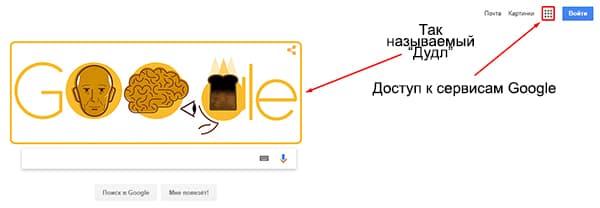 Дудлы на главной странице Google